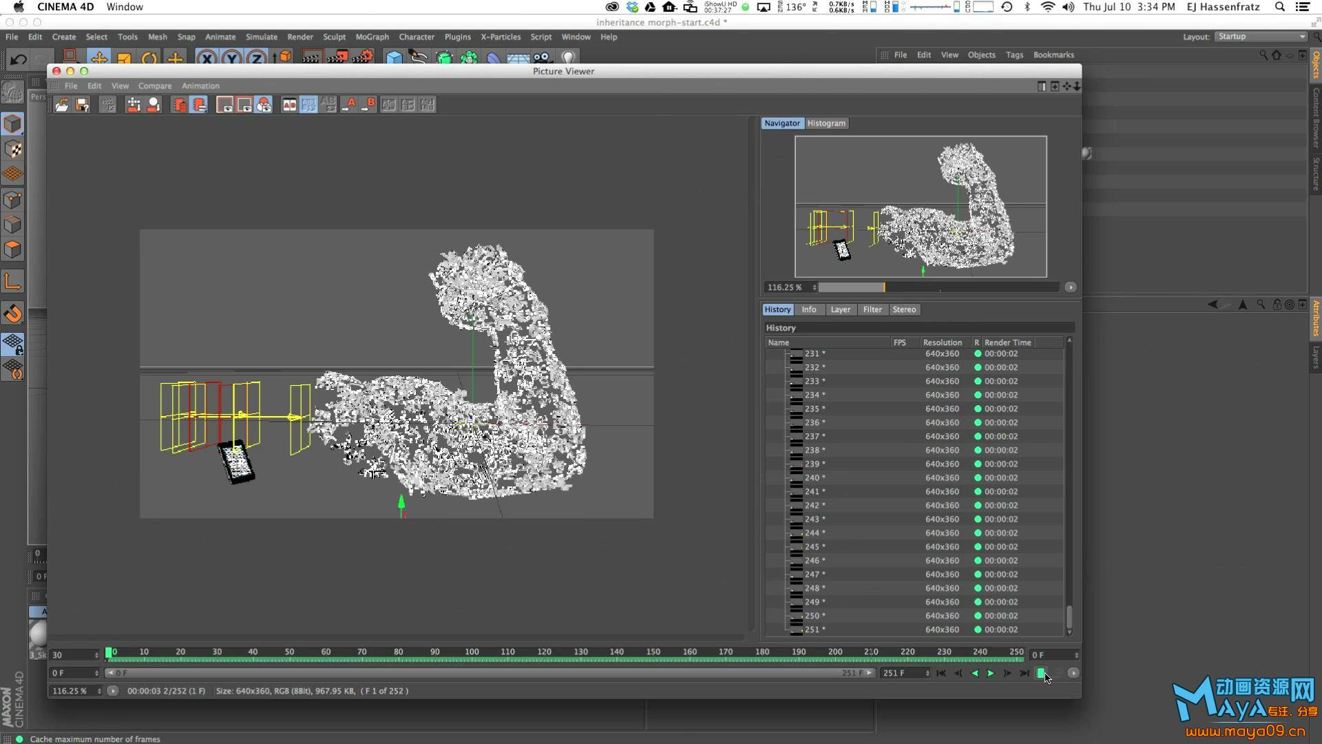 Cinema 4D – Creating Particle Morph using MoGraph, Effectors and Dynamics Tutor.jpg