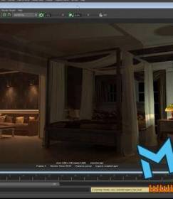 maya渲染卧室场景视频教程Shading Lighting and Rendering the Bedroom in Mental Ray