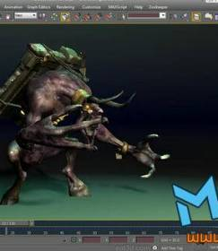 Max游戏怪物绑定及动画视频教程!Autodesk 3ds Max 2011 CAT Slate Viewport Canvas